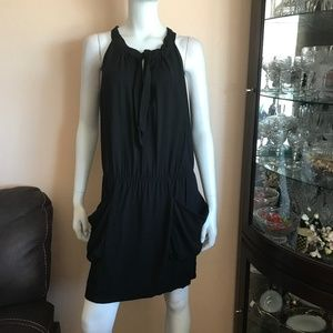 BCBG Maxazria Black Casual Big Pockets Dress Sz M